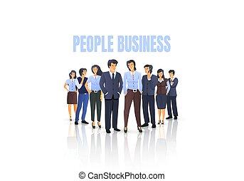 groupe, obtenir, gens, concept, business, gens.
