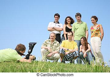 groupe, photographié