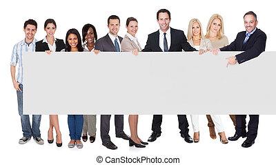 groupe, professionnels, présentation, bannière, vide