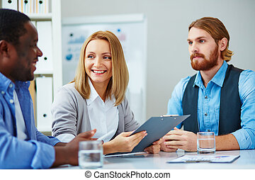 groupe, réunion, business
