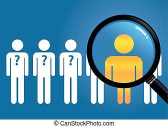 groupe, recherche, gens