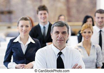groupe, séminaire commercial, gens