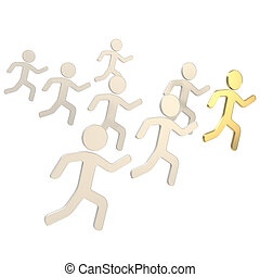 groupe, symbolique, courant, figures, humain, éditorial