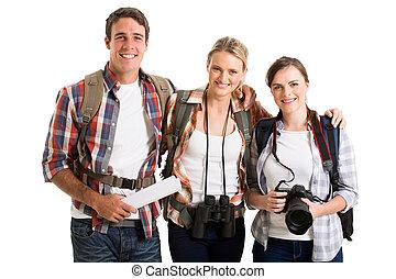 groupe, touristes