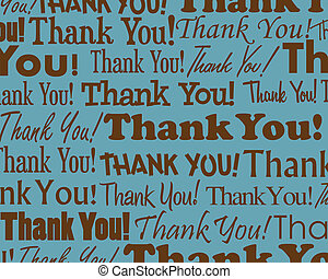Grouped collection of different Thank You text