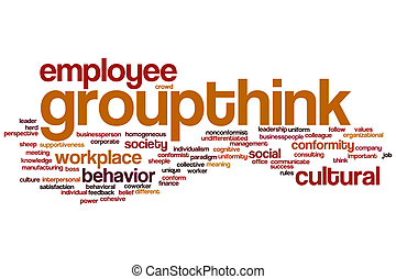 Groupthink word cloud