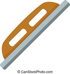 Grout construction tool icon, flat style - Grout ...