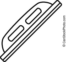 Grout construction tool icon, outline style - Grout ...
