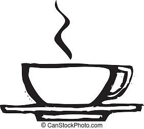 grov, kaffe kopp