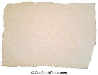 grov, papper