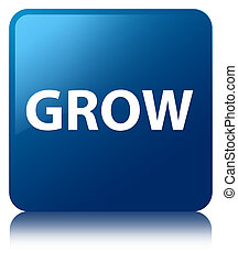 Grow blue square button