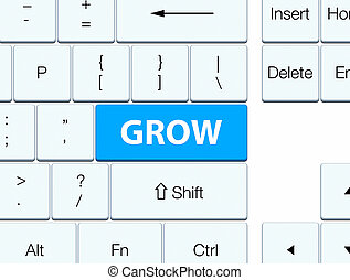 Grow cyan blue keyboard button