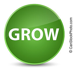 Grow elegant soft green round button