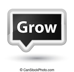Grow prime black banner button