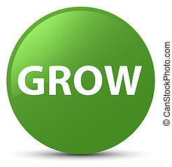 Grow soft green round button