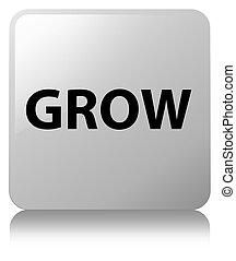 Grow white square button
