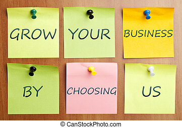 "Grow your business advertisment - ""Grow your business with..."