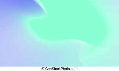 Growing and splitting organic vivid light blue liquid ...