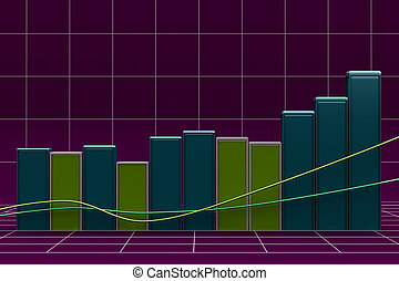 Growing bar chart from color blocks