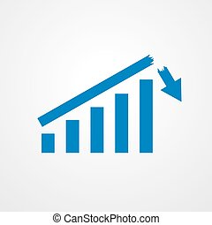 Growing bar graph icon. Vector illustration. - Growing bar...