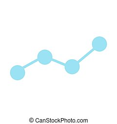 Growing business graph silhouette icon. Chart symbol.  Vector illustration