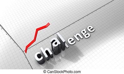 """""""growing, challenge."""", wykres, graficzny, ożywienie"""