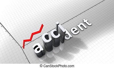 """""""Growing chart graphic animation, Accident."""""""