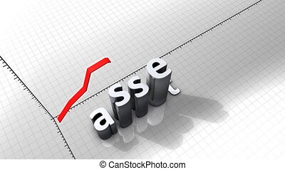 """""""Growing chart graphic animation, Asset."""""""