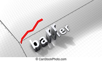 """Growing chart graphic animation, Barrier."""