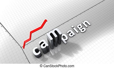 """Growing chart graphic animation, Campaign."""
