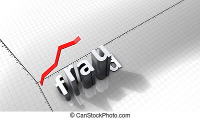 """""""Growing chart graphic animation, Fraud."""""""