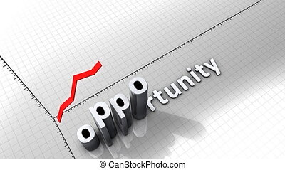 """""""Growing chart graphic animation, Opportunity."""""""