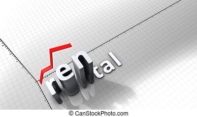 """""""Growing chart graphic animation, Rental."""""""