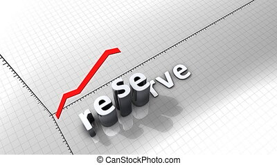 """""""Growing chart graphic animation, Reserve."""""""