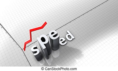 """""""Growing chart graphic animation, Speed."""""""