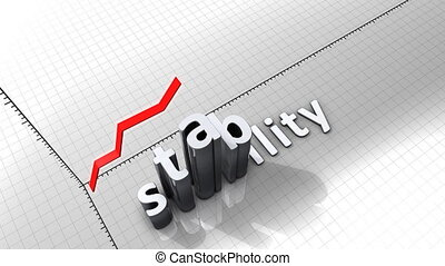"""""""Growing chart graphic animation, Stability."""""""