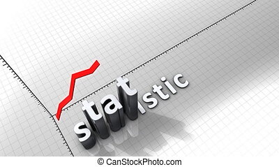 """""""Growing chart graphic animation, Statistic."""""""