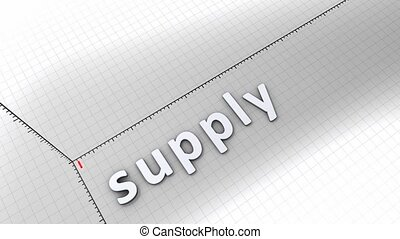 Growing chart - Supply - Concept animation, growing chart - ...