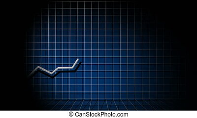 Growing charts and graphs on a black background.