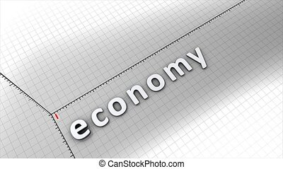 Growing economy chart animation.