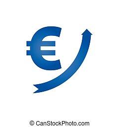 Growing euro icon