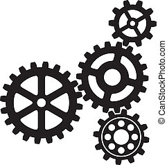 growing gears (gear icon, vector gears icon)
