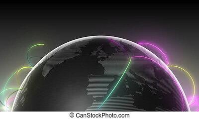 Growing Global Network half earth