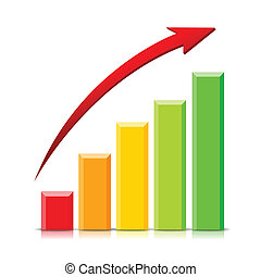 Growing Graph - Isolated Growing Graph on white background