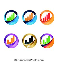 Growing graph simbol - Infographic. Chart icon. Growing...