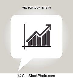 growing graph vector icon