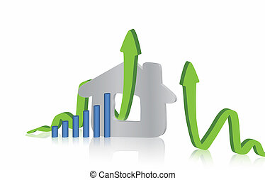 Growing home sales graphic design