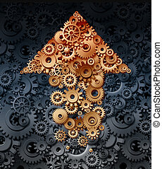 Growing Industry - Growing industry with a group of gears...