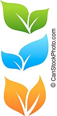 Growing leaves, natural icon