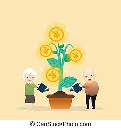 Growing money tree.